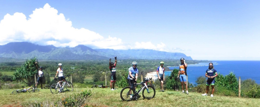 See spectacular views of the North Shore on Monday's group ride.